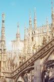 Tetto del duomo del ` s di Milano fotografia stock libera da diritti