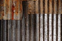 Tetto del ferro galvanizzato estratto Immagini Stock Libere da Diritti