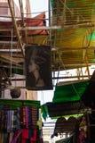 Tetto del negozio a Khan el-Khalili Bazaar, Cairo nell'egitto fotografia stock libera da diritti