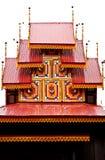 Tetto del tempiale di stile del Myanmar Immagine Stock