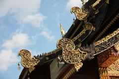 Tetto del tempio in chiangmai Tailandia Fotografie Stock