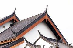 Tetto del tempio del cinese tradizionale immagini stock libere da diritti