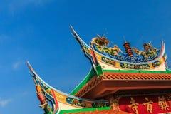Tetto del tempio del lato della città del ricciolo Fotografie Stock