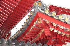 Tetto del tempio della reliquia del dente di Buddha, Singapore Immagine Stock