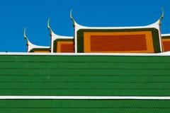 Tetto del tempio di Krachao di colpo Fotografia Stock Libera da Diritti