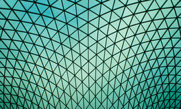 Tetto dell'a cristallo di British Museum fotografia stock libera da diritti