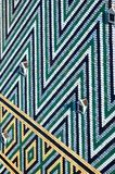 Tetto della cattedrale del ` s di St Stephen - Stephansdom a Vienna, Austria, modello delle mattonelle lustrate colorate Fotografie Stock