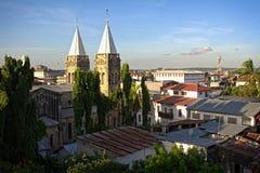 Tetto della cattedrale della città di Sone Immagini Stock Libere da Diritti