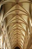 Tetto della cattedrale di pozzi immagini stock