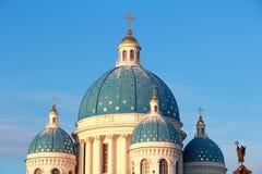 Tetto della chiesa di ortodossia a Pietroburgo Fotografie Stock Libere da Diritti
