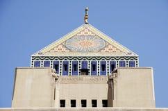Tetto della piramide della biblioteca pubblica di Los Angeles Fotografia Stock