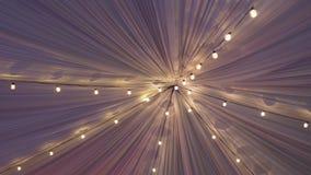 Tetto della tenda con le luci archivi video