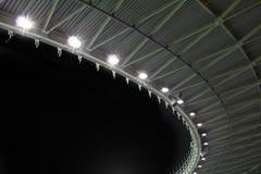 Tetto dello stadio alla notte Immagine Stock