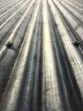 Tetto dello zinco con i bulloni Immagine Stock