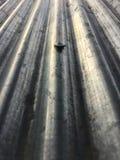 Tetto dello zinco con il bullone Immagini Stock