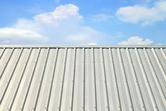 Tetto di alluminio ondulato Fotografia Stock