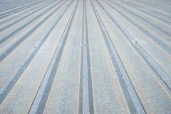 Tetto di alluminio ondulato Immagini Stock Libere da Diritti