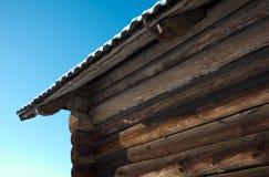Tetto di ardesia della casa rurale Fotografia Stock Libera da Diritti