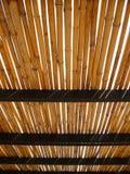Tetto di bambù Fotografia Stock