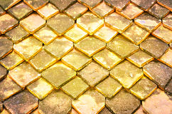 Tetto di Clay Roof-Tile al forno Fotografia Stock