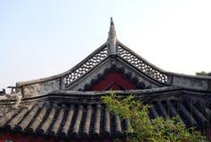 Tetto di costruzione cinese Fotografia Stock