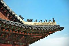Tetto di Gyeongbokgung Fotografia Stock Libera da Diritti