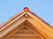 Tetto di legno Immagine Stock