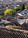 Tetto di Lijiang Fotografie Stock