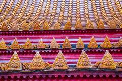 Tetto di marmo del tempio Fotografia Stock