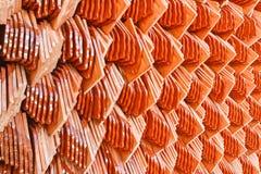 Tetto di mattonelle del tempio, Immagini Stock