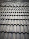 Tetto di mattonelle grigio dell'argilla Fotografia Stock Libera da Diritti