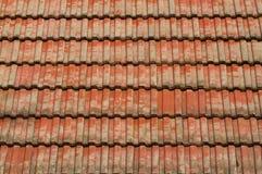 Tetto di mattonelle rosse Immagine Stock Libera da Diritti