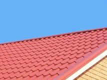 Tetto di mattonelle rosse. immagini stock libere da diritti