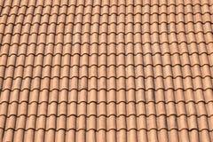Tetto di mattonelle rosse Fotografie Stock