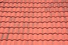 Tetto di mattonelle rosse Fotografia Stock
