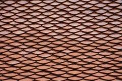 Tetto di mattonelle rosse Fotografia Stock Libera da Diritti