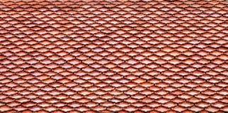 Tetto di mattonelle tailandese di stile Immagine Stock Libera da Diritti