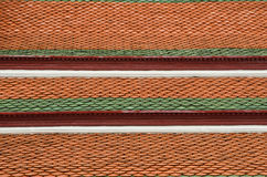 Tetto di mattonelle in tempiale del Buddha verde smeraldo Fotografia Stock Libera da Diritti