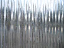 Tetto di riflessione della lamiera di acciaio fotografie stock