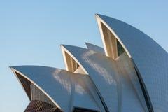 Tetto di Sydney Opera House, punto di riferimento australiano famoso fotografie stock