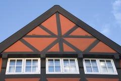 Tetto di una casa bavarese Immagine Stock