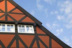 Tetto di una casa bavarese Fotografia Stock Libera da Diritti