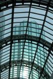 Tetto di vetro con il grattacielo Immagine Stock Libera da Diritti