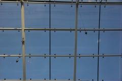 Tetto di vetro del centro commerciale Fotografie Stock