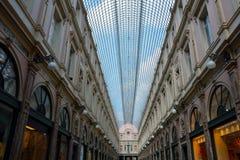 Tetto di vetro del centro commerciale di San-Hubert Immagine Stock