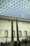 Tetto di vetro del soffitto alto del caffe dell'ingresso di British Museum Fotografie Stock Libere da Diritti