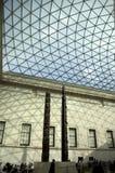 Tetto di vetro del soffitto alto del caffe dell'ingresso di British Museum Immagine Stock