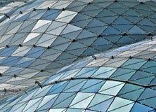 Tetto di vetro della costruzione Immagini Stock