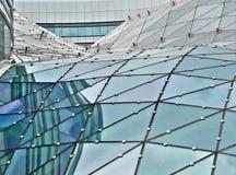 Tetto di vetro della costruzione Fotografia Stock Libera da Diritti