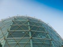 Tetto di vetro della cupola dell'edificio di Kingpower Fotografia Stock